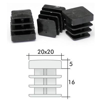 Пластиковые квадратные заглушки 20х20 и схема