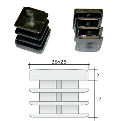Пластиковые квадратные заглушки 25х25 и схема