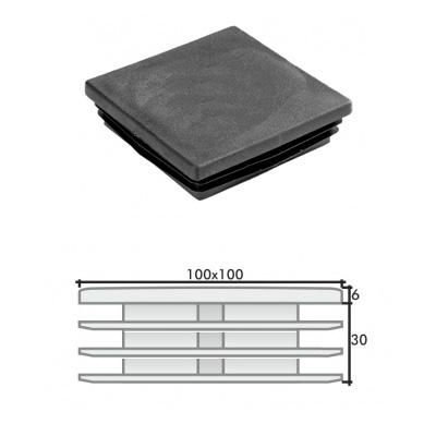 Пластиковая квадратная заглушка 100х100 и схема