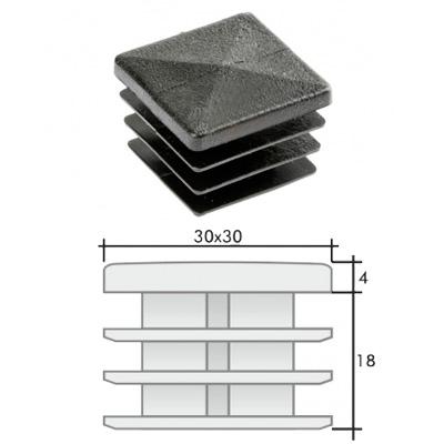 Пластиковая квадратная заглушка 30х30 и схема
