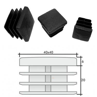 Пластиковые квадратные заглушки 40х40 и схема