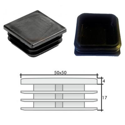 Пластиковые квадратные заглушки 50х50 и схема