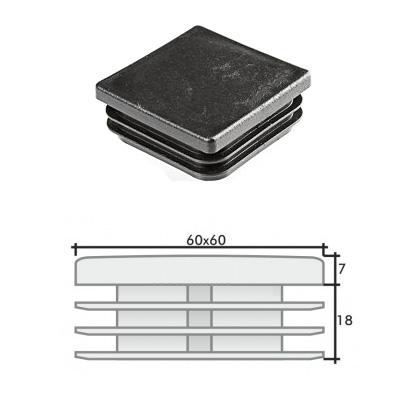 Пластиковая квадратная заглушка 60х60 и схема