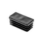 Заглушка пластиковая прямоугольная 30х50 черная