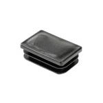 Заглушка пластиковая прямоугольная 40х60 черная