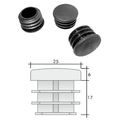 Заглушка д. 25 круглая и схема