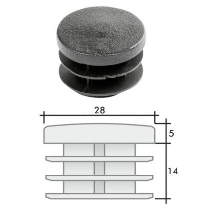 Заглушка д. 28 круглая и схема