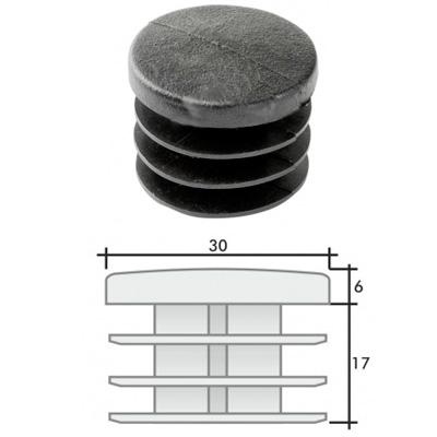 Заглушка д. 30 круглая и схема