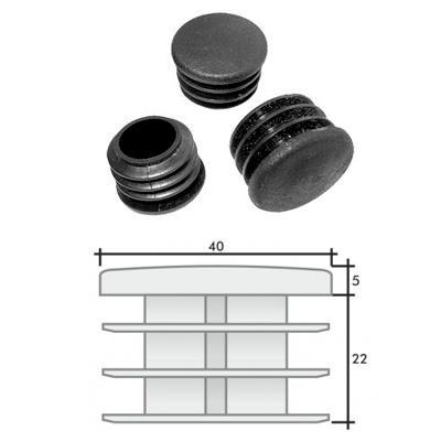 Заглушка д. 40 круглая и схема