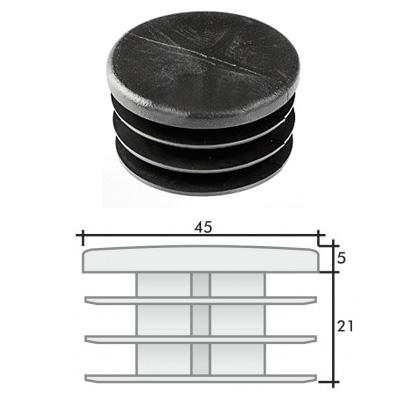 Заглушка д. 45 круглая и схема