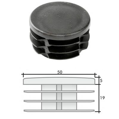 Заглушка д. 50 круглая и схема