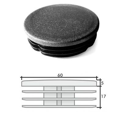 Заглушка д. 60 круглая и схема