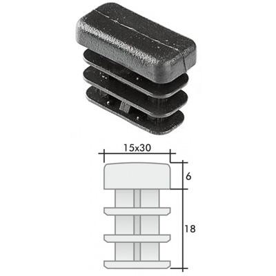 Заглушка 15х30 прямоугольная и схема