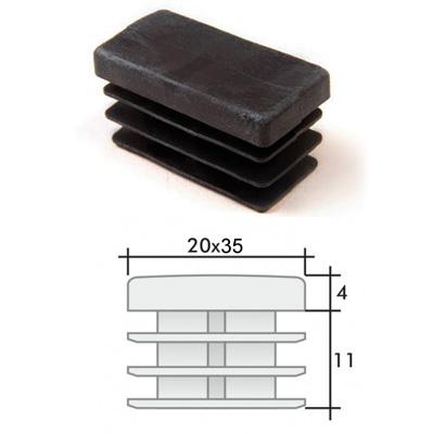 Заглушка 20х35 прямоугольная и схема