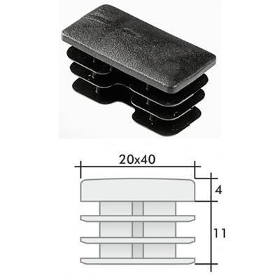 Заглушка 20х40 прямоугольная и схема