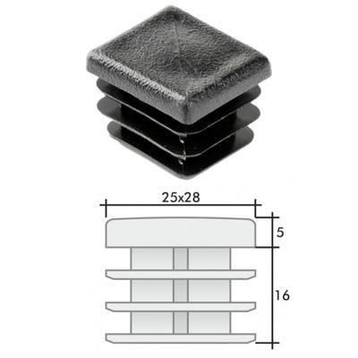 Заглушка 25х28 прямоугольная и схема