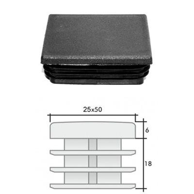 Заглушка 25х50 прямоугольная и схема