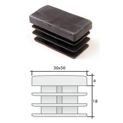 Заглушка 30х50 прямоугольная и схема