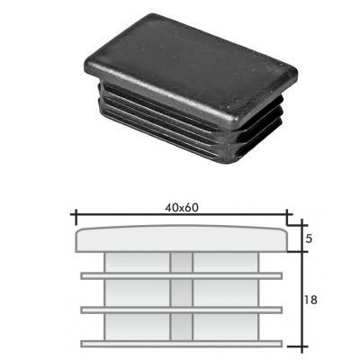 Заглушка 40х60 прямоугольная и схема