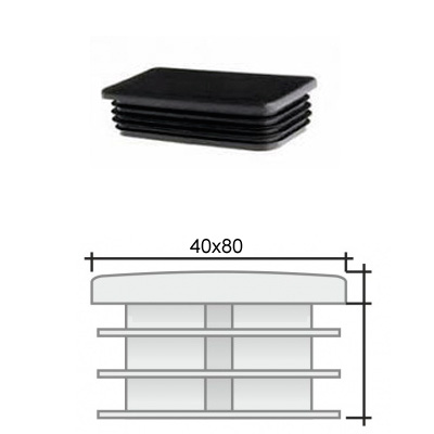 Заглушка 40х80 прямоугольная и схема