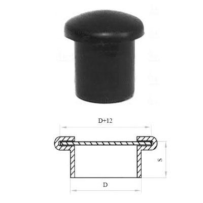 Заглушка д. 12 круглая и схема