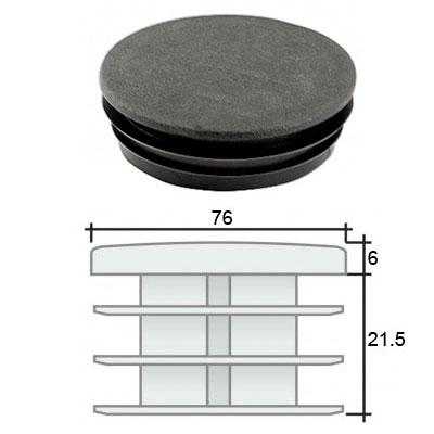 Заглушка д. 76 круглая и схема