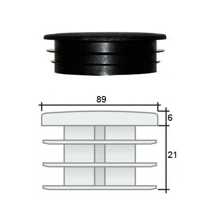 Заглушка д. 89 круглая и схема