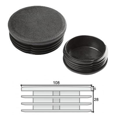 Заглушка д. 108 круглая и схема