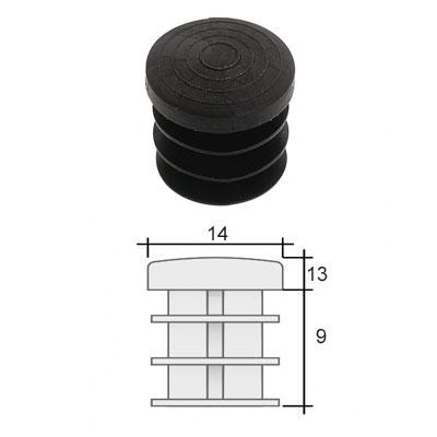 Заглушка д. 14 круглая и схема