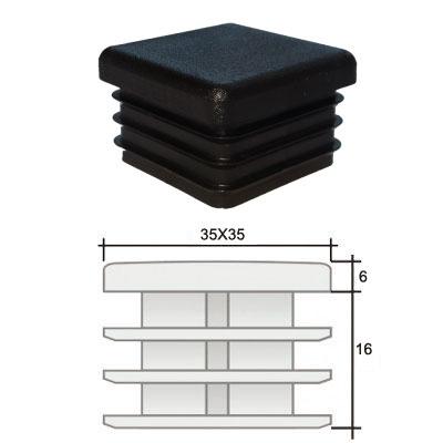 Пластиковые квадратные заглушки 35х35 и схема