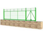 Ворота откатные самонесущие сетчатые (ВО СГ)