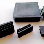 Квадратные заглушки черного цвета